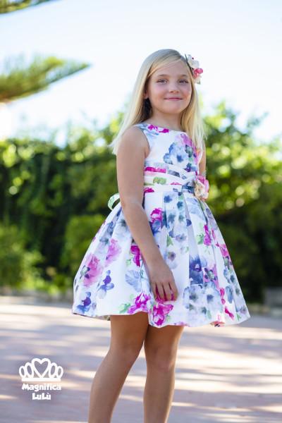 vestido espampado niña
