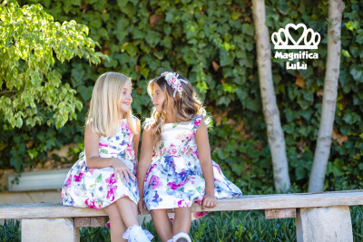 vestidos estampados flores comunión niña