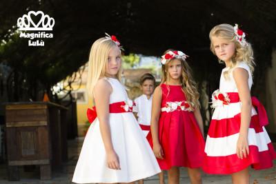 vestidos rojos de niña