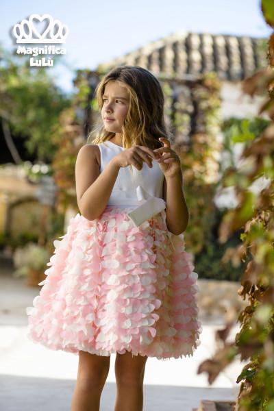 vestido niña falda vaporosa made in spain